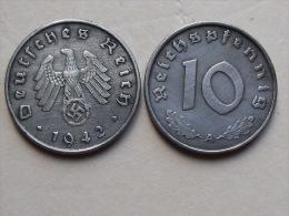UNE PIECE  DE MONNAIE  D ALLEMAGNE III Eme REICH  DE 10 REICHSPFENNIG  1942 A - [ 4] 1933-1945 : Third Reich