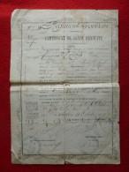 CERTIFICAT DE BONNE CONDUITE RIVES AU 9è REGIMENT PROVISOIRE CONSTANTINE 1875 Signatures - Documenti