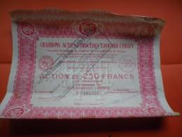 PRODUITS CHIMIQUES Et CHARBONS ACTIFS  EDOUARD URBAIN (250 Francs) 1927 - Ohne Zuordnung