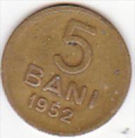 5962A ROMANIA,ROUMANIE,Rumänien  -- 5 BANI -- 1952 -- - Rumänien