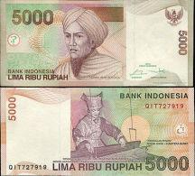 INDONESIA 5000 5,000 RUPIAH 2014/2001 P 142 NEW UNC - Indonesië