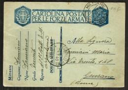 1940 POSTA MILITARE Storia Postale Vg Per  Da Arzachena A Genzano - 1900-44 Victor Emmanuel III.