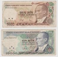TURQUIE    2     BANKNOTES   F    Ref  667 - Turkije