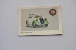 Calendar 1987 USSR Latvia Transport Car FIAT 500 294 - Tamaño Pequeño : 1981-90