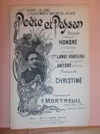 """PARTITION CHANT """"PO�TE ET PAYSAN"""" HONORE-G.LANGE KAMOUNA-ANTONY-Paroles:F.MORTREUIL-Musique:CHRISTINE-Edit:Marcel LABBE"""