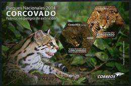Costa Rica (2014) - Block -  /  Endangered Wild Cats - Katzen - Wild Cat - Panthera - Puma - Leopard - Big Cats (cats Of Prey)
