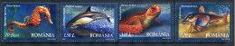 ROMANIA 2007 Black Sea Fauna Set Of 4 MNH / **.  Michel 6163-66 - 1948-.... Republics
