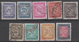 ITALIA - REPUBBLICA - 1955-1981 -  Serie Di 9 Valori - Segnatasse - Fil. Stelle - USATI/USED - Postage Due