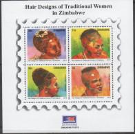 ZIMBABWE ,2013,MNH,HAIRSTYLES, HAIR DESIGNS, SHEELTET - Culturen