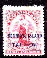 Penrhyn Island 1902 Ovpt On NZ SG 5 Mint Hinged - Penrhyn