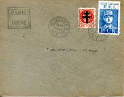 FRANCE. 1f50 Pétain Surchargé Croix De Lorraine + Vignette De Gaulle FFI. - Liberation