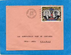 MARCOPHILIE-LettreHaute Volta-cad- 1973-pour Françe-1-Stamp N°A106 Visite Pt Pompidou - Upper Volta (1958-1984)