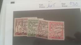 LOT 247206 TIMBRE DE COLONIE ALAOUITES NEUF* N�1 A 5 VALEUR 30 EUROS