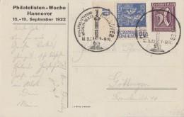 DR Privat-Ganzsache Minr. PP61 C4/03 SST Hannover 16.9.22 Zfr. Minr.168 UER - Deutschland