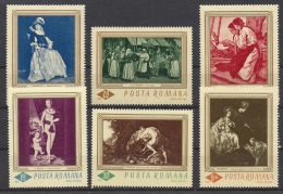 ROMANIA-1967. Paintings / Rubens, Rembrandt,Cranach  Cpl.Set  MNH!! Mi:2576-2581. - 1948-.... Republics