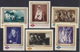 ROMANIA-1966. Paintings By Grigorescu,Van Eyck,El Greco Cpl.Set  MNH!! Mi:2519-2524. - 1948-.... Republics