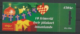 2002 MNH Iceland, Island, Booklet  Christmas, Postfris - Cuadernillos/libretas