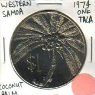SAMOA $1 TALA  COCONUT PALM FRONT MAN HEAD BACK 2ND ISSUE1974 UNC KM? READ DESCRIPTION CAREFULLY !!!