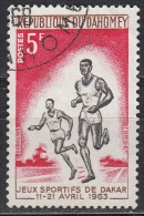Dahomey, 1963 - 5fr Runners - Nr.175 Usato° - Benin – Dahomey (1960-...)