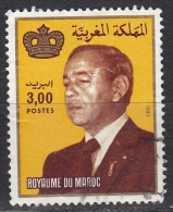 Marocco, 1983 - 3d King Hassan II  - Nr.523 Usato° - Marocco (1956-...)