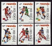 RWANDA    N° 1211/16  * *   (cote 12e ) Cup  1986   Football Soccer Fussball - Coupe Du Monde