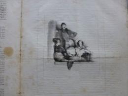Le CHARIVARI Fev 1834, Gravure La Loge Des BOUFFONS ; Ref 673 - Non Classificati