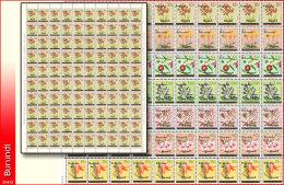 Burundi 0001/7**  Full set de  7 Feuilles / Sheets  de 100  -MNH- Cote COB 1200 !