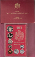 MALTA FIRST PROOFSET 1972 KMPS I ONLY 8000 PCS. SCARCE SET, NOT OFTEN OFFERED,ORIGINAL PACKED - Malte