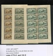 1935  Petits Feuillets De 10 Ex Kleinbogen  407/409 **  Cote 175 E - Blocks & Sheetlets 1924-1960