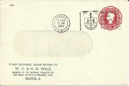 REINO UNIDO ENTERO POSTAL TEMA TABACO TOBACCO MAT FESTIVAL CITY OF LONDON 1962 - Tabaco