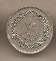 Libia - Moneta Circolata Da 20 Dirhams - 1975 - Libye