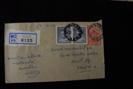 A250 CEYLON - SRI LANKA - Einschreiben Recommande BELIATTA - Sri Lanka (Ceylon) (1948-...)