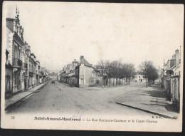 SAINT AMAND MONTROND - La Rue Benjamin Constant Et Le Cours Fleurus - Saint-Amand-Montrond
