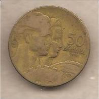 Jugoslavia - Moneta Circolata Da 50 Dinari - 1955 - Yugoslavia