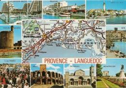 30. CPM, Gard, Provence - Languedoc. Multi-vues (9 Vues + Carte) - Frankreich