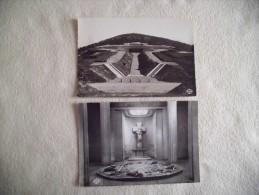 2 CARTES L'HARTMANNSWILLERKOPF..MONUMENT NATIONAL ET INTERIEUR DE LA CRYPTE - Soldatenfriedhöfen
