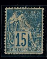 Francia Colonie - 1881 - Usato/used - Ordinari - Mi N. 50 - France (former Colonies & Protectorates)