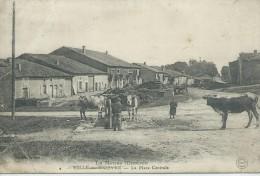 55,Meuse,VILLE-EN-WOERE, 146 Habitants, La Place Centrale, Animations ,Scan Recto-Verso - France