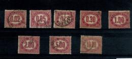 Italia - 1875 - Usato/used - Servizio/Dienstmarken - Mi N. 1/8 - 1861-78 Vittorio Emanuele II