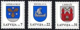 Latvia Lettland Lettonie 2006 (02) Coats Of Arms - Aizkraukle, Kraslava, Limbazi - Lettland