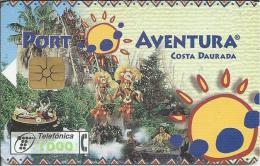 ES.- Spanje Telefonica De Espana. Bienvenido A La Diversion. Port Aventura. Costa Daurada. F 029 - Spanje