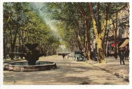 13 - AIX-en-PROVENCE - Cours Mirabeau - éd. Cim Combier Colorisée - 1942 - Avec Vieille Camionnette - Aix En Provence