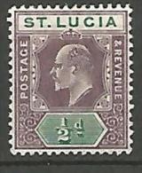 ST-LUCIE N�  41 NEUF* TTB / TRACE DE CHARNIERE