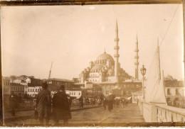 CONSTANTINOPLE (Turquie) Ancienne Photographie Pont Mosquée Animation 1919 - Turquie