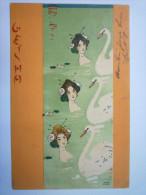 "RAPHAEL  KIRCHNER  :  Jolie Fantaisie  "" GEISHA ""  ART  NOUVEAU  1902   XXXXX  (5) - Kirchner, Raphael"