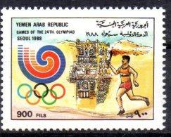 YEMEN     N° (373A)  * *   Jo 1988   Logo Flamme - Ete 1988: Séoul