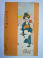 "RAPHAEL  KIRCHNER  :  Jolie Fantaisie  "" GEISHA ""  ART  NOUVEAU  1902   XXXXX  (7) - Kirchner, Raphael"