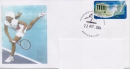 GREECE(A) FDC COMMEMORATIVE POSTMARK ATHENS 2004:EXPIRY OLYMPIC EVENTS/TENNIS-22/8/04(O A 1) - Ete 2004: Athènes