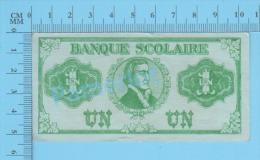 1920, Monnaies Scolaires, Billet De 1$ Quebec Canada ( John McDonald Par Frères Des Écoles Chrétiennes )recto/Verso - Monnaies & Billets