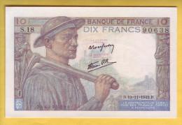 BILLET FRANCAIS - Billet Fauté - 10 Francs Mineur 19.11.1942 NEUF - Fautés